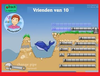 Vrienden van 10 voor kleuters op digibord of computer op kleuteridee.nl