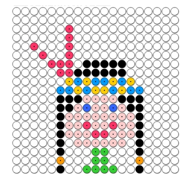 indiaantje kralenplank voor kleuters, kleuteridee.nl, beads pattern preschool, free printable