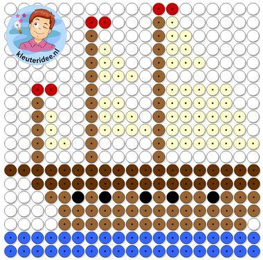 kralenplank zeilboot, thema de haven, kleuteridee, Kindergarten sailship beads