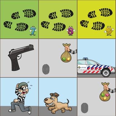 Bee-Bot mat politie kleuteridee detail