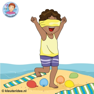 Strandspellen voor kinderen , kleuteridee.nl