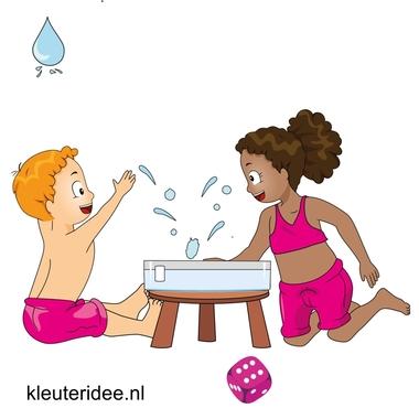 Waterspelletjes voor kleuters, kleuteridee , spel 10, Zes splash!