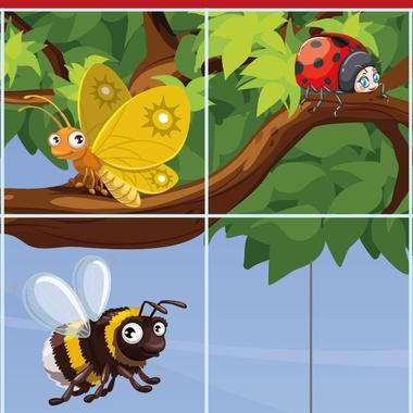 Bee-Bot mat insecten, kleuteridee detail