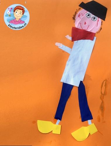 Boer en boerin knutselen, kleuteridee, thema Nederland met kleuters