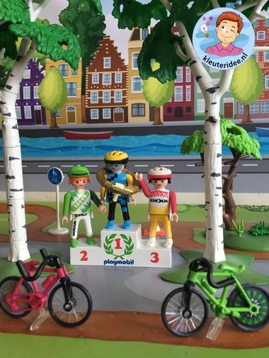 Thematafel de fiets, kleuteridee