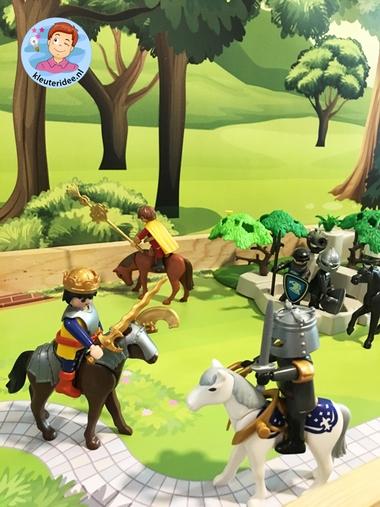 Speeltafel thema ridders en jonkvrouwen, kleuteridee 4