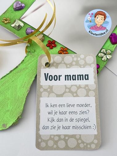 Spiegel moederdag, kleuteridee 2