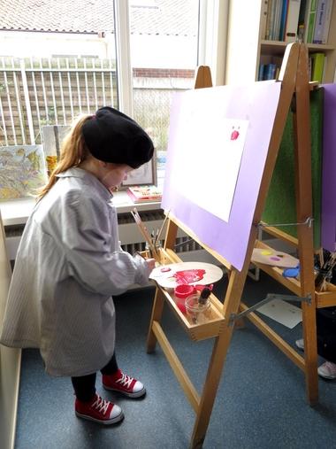 Atelier in de klas, thema kunst voor kleuters, kleuteridee.nl , Art theme preschool.