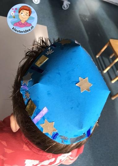 keppel knutselen met kleuters, Kindergarten kippa craft, thema Israël kleuteridee 4