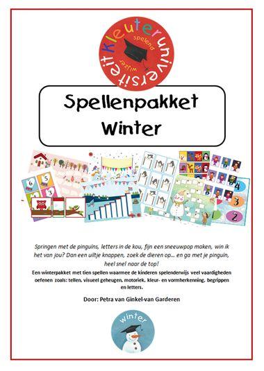 Spellenpakket Winter, juf Petra kleuteridee, kleuteruniversiteit