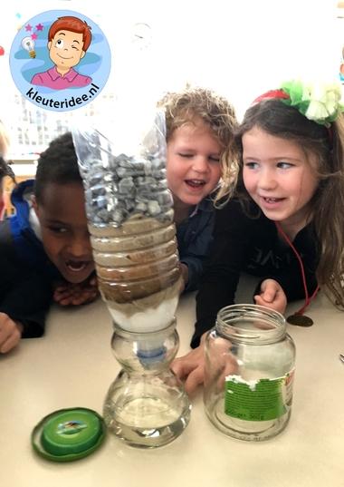 Water zuiveren met kleuters, thema water, kleuteridee 2