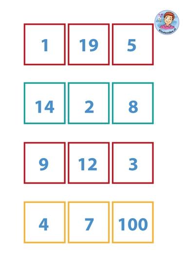 Nummerkaarten voor rekenen met vissen, kleuteridee, thema water