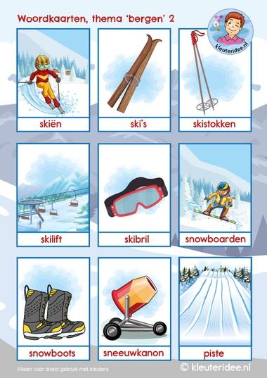 woordkaarten thema bergen 2