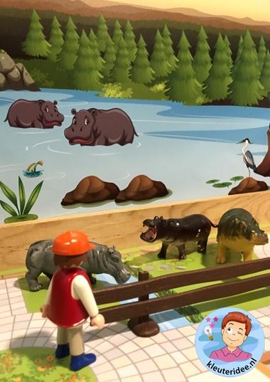 Speelmatten dierentuin, kleuteridee 3.
