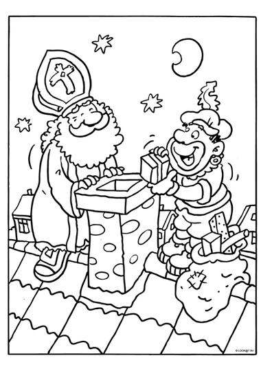 Kleurplaat Sinterklaas 1, kleuteridee