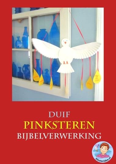 Pinksteren, duif, knutselen verwerking, kindergarten pentecost craft, free printable, kleuteridee