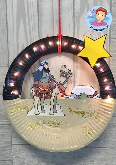 Kerst knutselen Wijzen uit het oosten 3, kleuteridee.