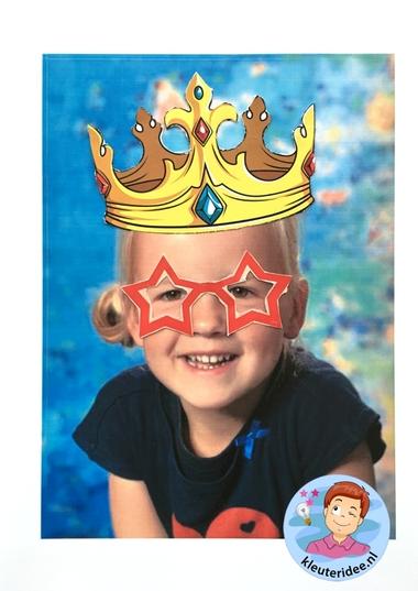 Maak een bril voor jezelf, kleuteridee, thema het oog, Kindergarten eye theme.