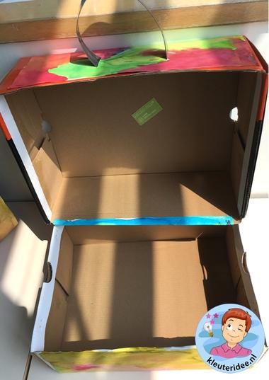 Koffer maken met ecoline, thema vliegveld, kleuteridee, Kindergarten airport craft, airport theme 3