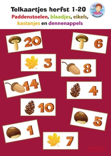 Telkaartjes herfst 1-20 kleuteridee