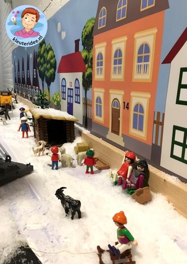 Thematafel sneeuw winter voor kleuters, kleuteridee