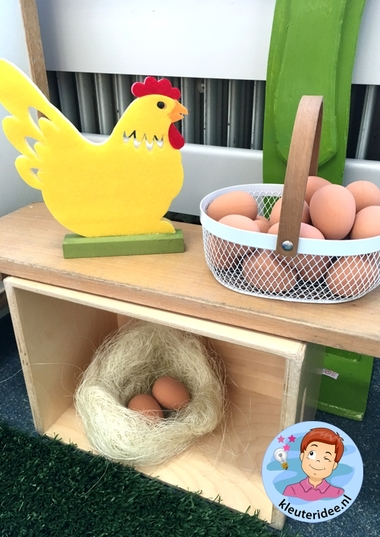 themahoek lente voor kleuters 2, Spring theme center kindergarten, kleuteridee
