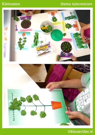 Kleimatjes voor kleuters 4 , thema tuincentrum, kleuteridee, free pintable.Kleimatjes voor kleuters 4 , thema tuincentrum, kleuteridee, free pintable.