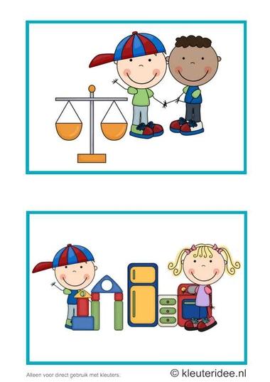 Dagritmekaarten voor kleuters 15, kleuteridee.nl , wegen en hoeken , daily schedule cards for preschool 15, free printable.