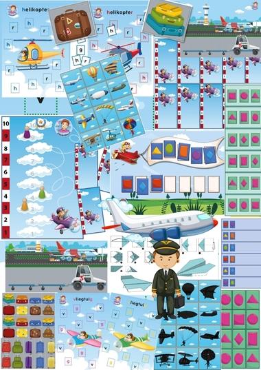 Spellenpakket het vliegveld voor kleuters, kleuteridee, Kindergarten airport games, alle spellen