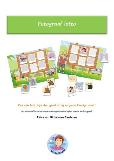 Fotograaf lotto, educatief spel voor kleuters, kleuteridee.nl