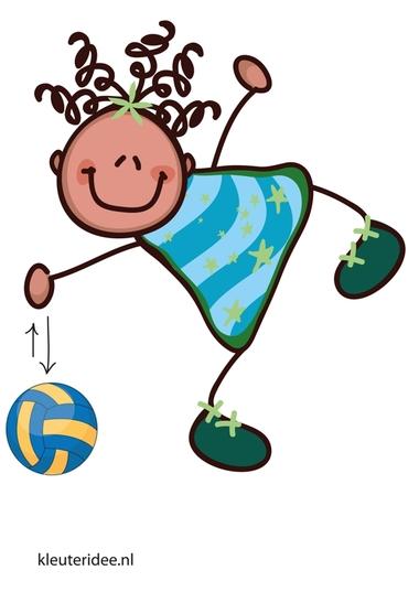Bewegingskaart bal voor kleuters, de bal stuiteren, kleuteridee.nl, free printable moving cards for preschool.