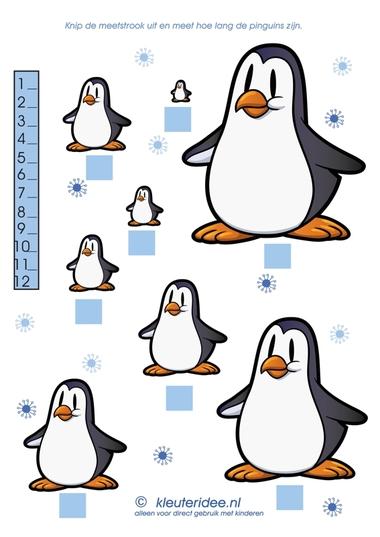 Meet de pinguins, kleuteridee.nl, thema Noorpool & Zuidpool, free printable