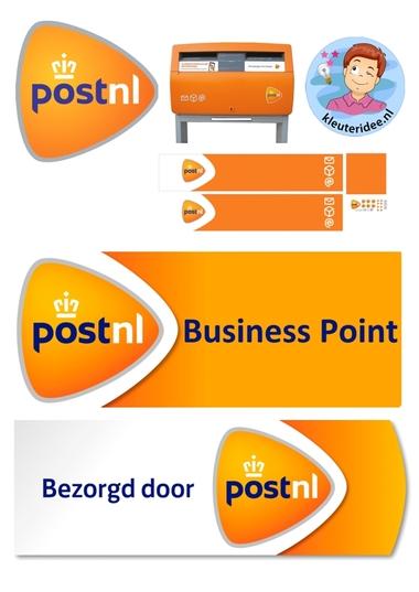 Materialen PostNL voor rollenspel kleuters, kleuteridee.