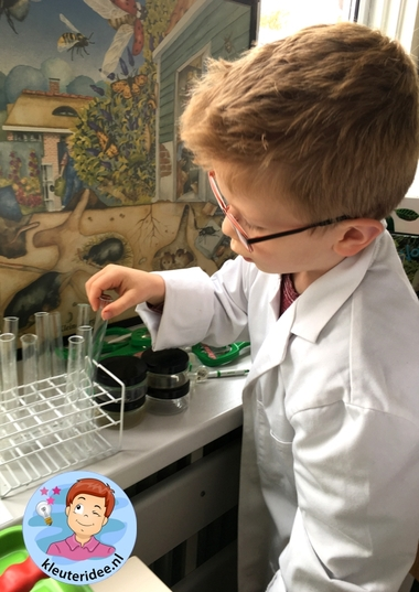 laboratorium van dieren onder de grond, kleuteridee.nl, Kindergarten laboratory for animals under the ground 5