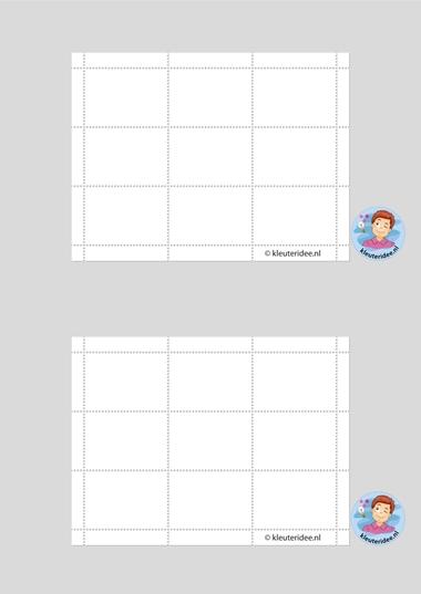 Postzegels maken, thema post en pakket, kleuteridee.