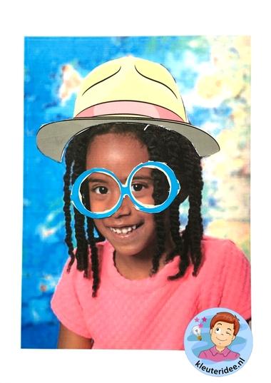 Maak een bril voor jezelf, kleuteridee, thema het oog, Kindergarten eye theme 2.