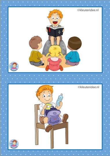 2 Bijbel en drinken.32 dagritmekaarten voor kleuters, juf Petra kleuteridee / Preschool schedule cards