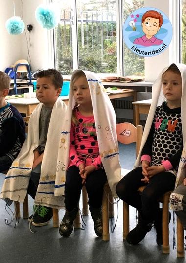 Talliet knutselen met kinderen, kleuteridee, Kindergarten Isael talid craft 6.