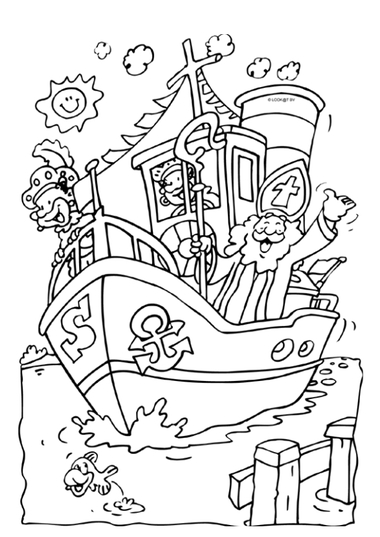 Kleurplaat Sinterklaas 3, kleuteridee