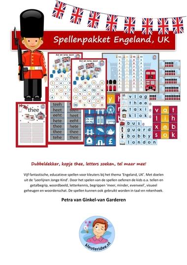 Spellenpakket Engeland, UK voor kleuters, kleuteridee