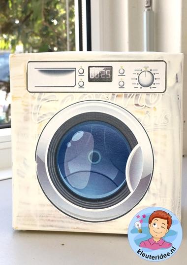 wasmachine knutselen met download, kleuteridee 2.