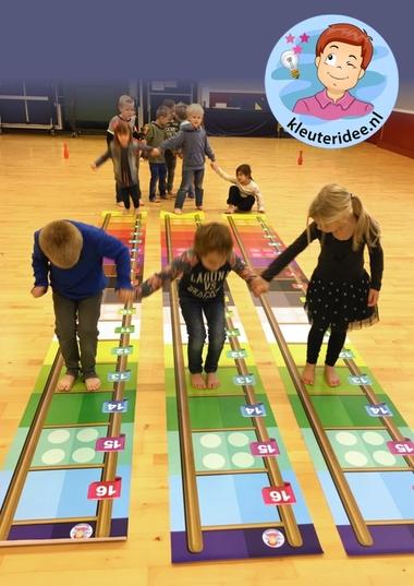 Laddermat, gymmat voor kinderen, kleuteridee
