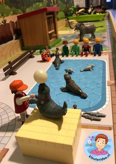 Speelmatten dierentuin, kleuteridee 2.