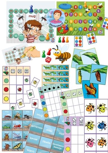Alle spellen, spellenpakket insecten, kleuteridee.