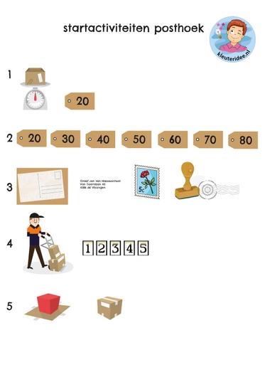 Activiteiten postkantoor rollenspel, kleuteridee