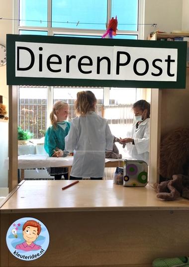Safari dierenpost kleuters, thema Afrika,kleuteridee, Kindergarten roleplay African animal clinic, Africa theme 7.