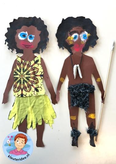 Afrikaanse kinderen knutselen,kleuteridee , thema Afrika 5.