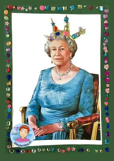 Koningin Elizabeth knutselen met kleuters, thema Engeland , Queen Elizabeth craft kindergarten, kleuteridee