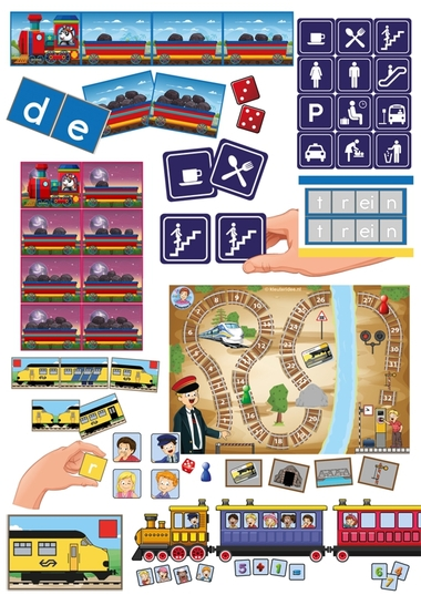 4. Spellenpakket trein., kleuteridee.nl