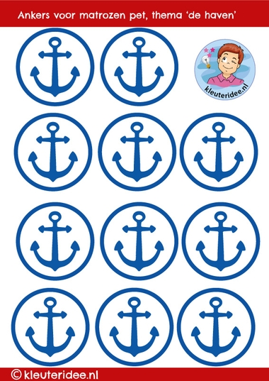 Ankers voor pet matroos, thema de haven
